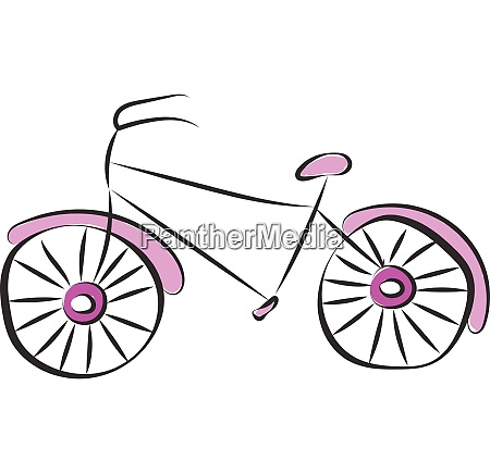purple bicycle vector or color illustration