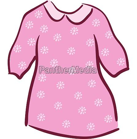 floral blouse vector or color illustration