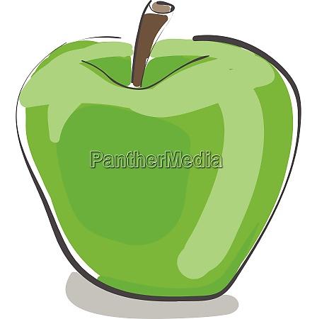 a fresh green apple vector or