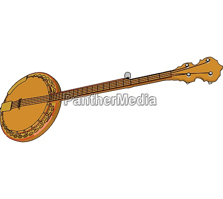 a hollow body instrument tanpura vector