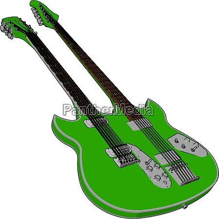 double bass guitar with its parts