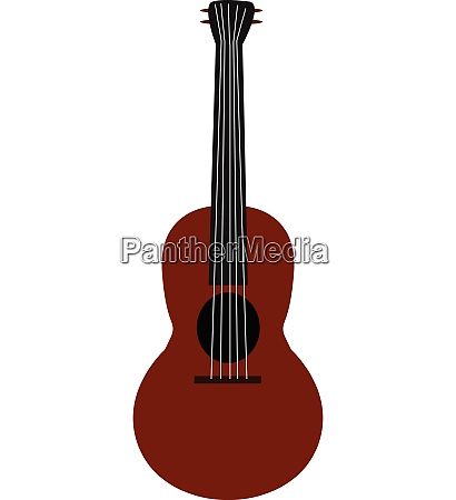 clipart of a maroon guitar vector