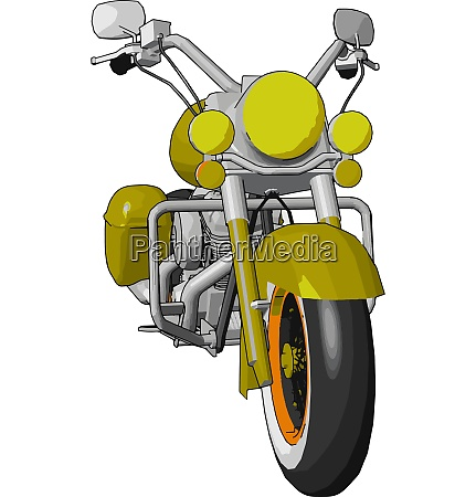 a motorcycle vector or color illustration