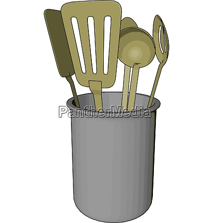 a spoon rest picture vector or