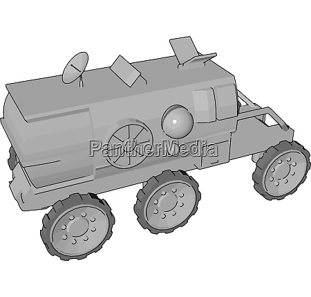 a space exploration vehicle vector or
