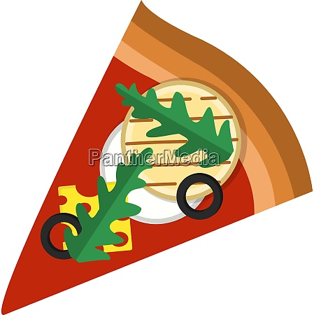 pizza slice with arugulacheese and veggiesprint