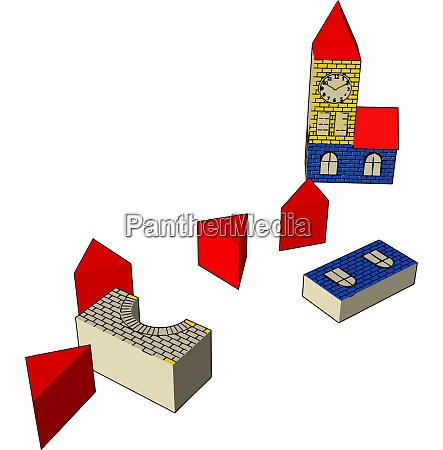 children playing and learning toy vector