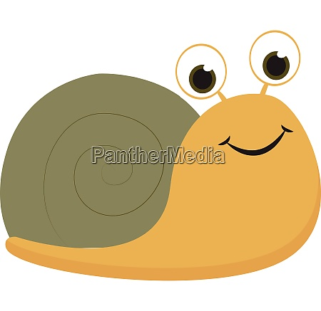 yellow snail vector or color illustration