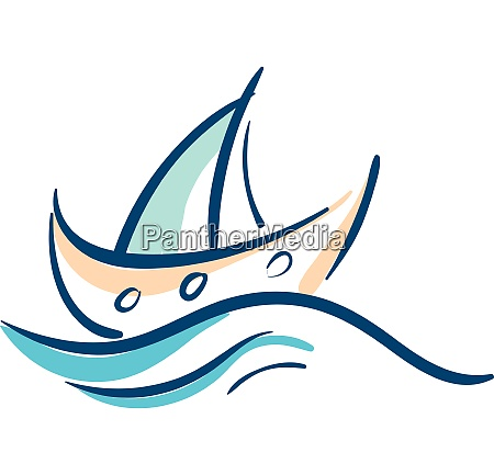 sailing boat in ocean vector or