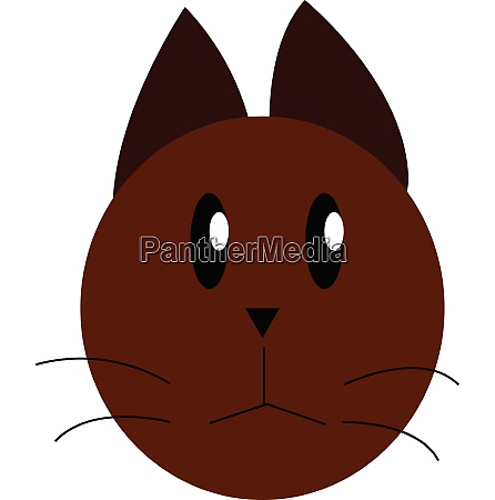brown cat with mustaches vector or