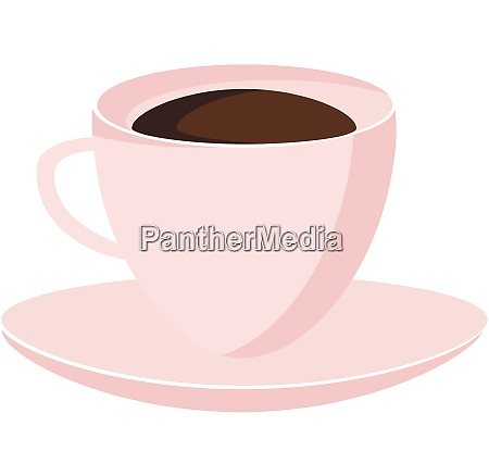 hot beverage in cup plate vector