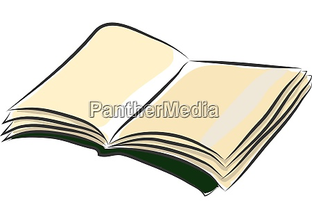 an open book vector or color