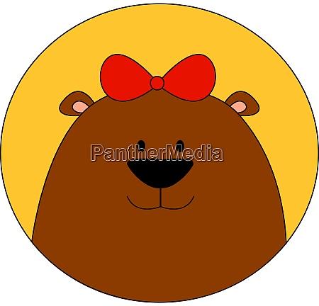 bear wearing a bow tie on