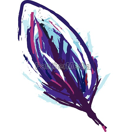 painting of blue feather vector or