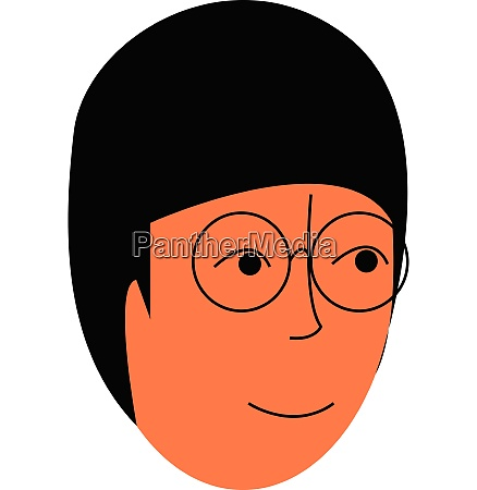 black hair nerdy girls portrait vector