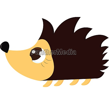 cute brown and yellowe hedgehog