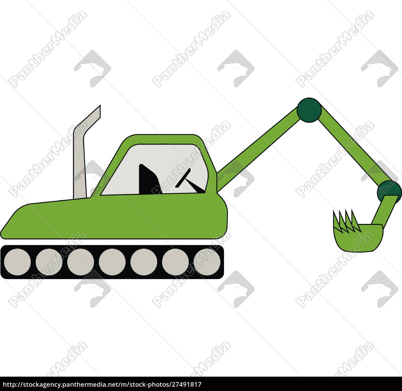 green, color, farm, tractor, vector, or - 27491817
