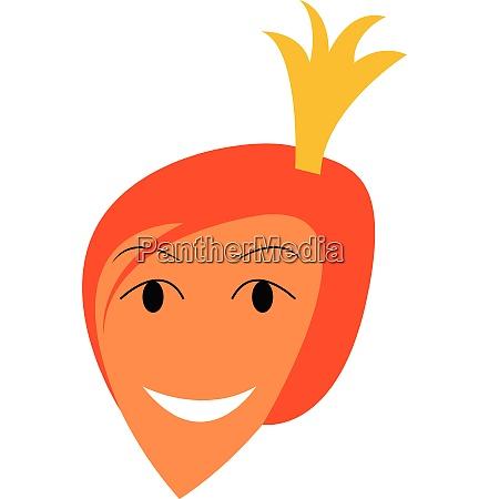 portrait, of, happy, princess, vector, or - 27491302