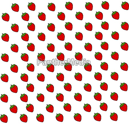 strawberry wallpaper illustration vector on white
