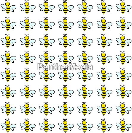 bee wallpaper illustration vector on white
