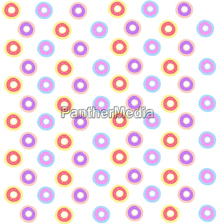 donuts wallpaper illustration vector on white