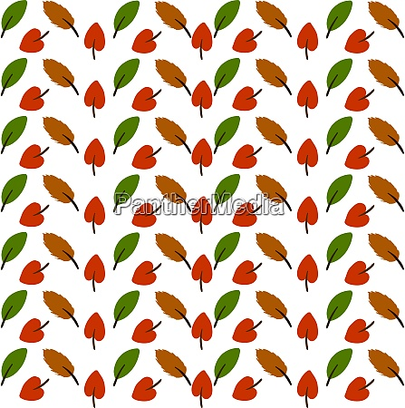 leaves wallpaper illustration vector on white