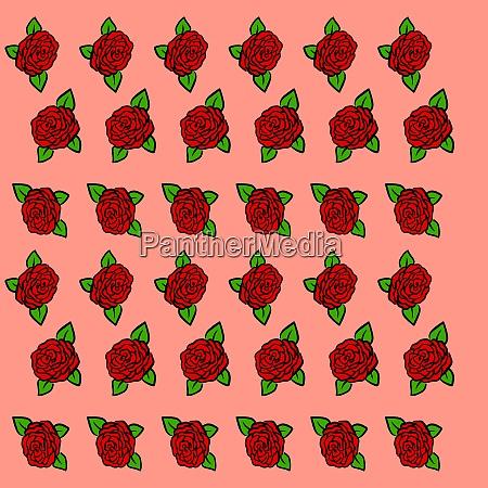 roses, wallpaper, , illustration, , vector, on, white - 27492132