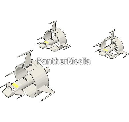 white round sci fi battlecruisers vector