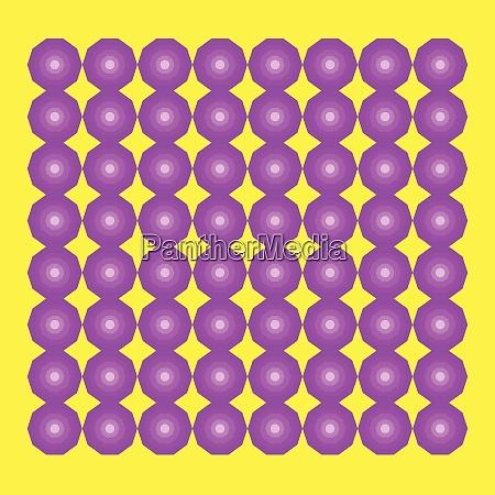 decagon pattern vector or color illustration