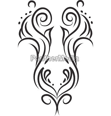 a symmetrical decorated drawing vector or