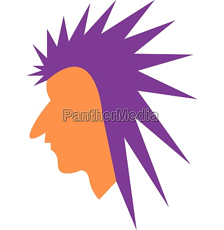 a man with a mohawk vector