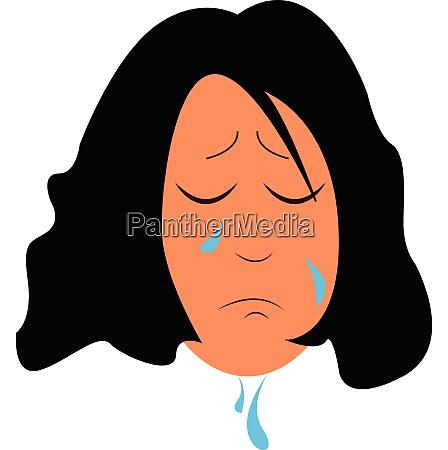 a sad girl vector or color
