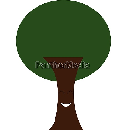 a green tree vector or color