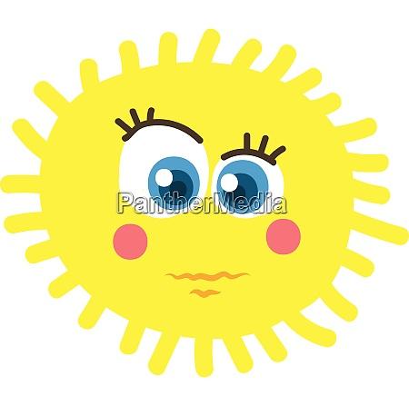 a bright yellow sun vector or
