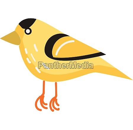 a yellow cartoon bird with beautiful