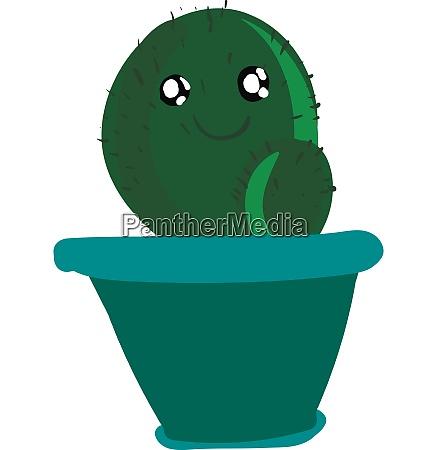 a happy cactus plant emoji in