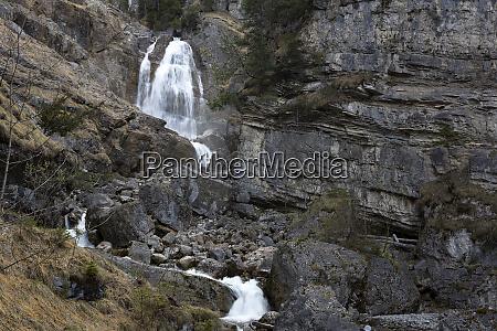 kuhflucht waterfalls near farchant bavaria germany