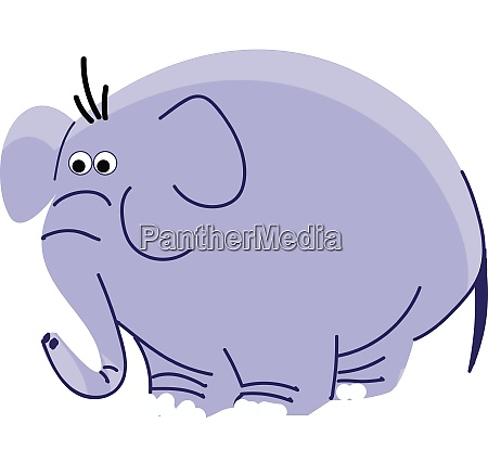 drawing of a big blue elephant