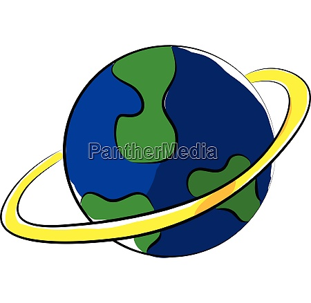 clipart of a globe displaying the