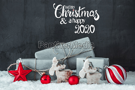 snow gift red decoration merry christmas