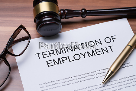 documents about termination of employment over