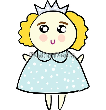 cute illustration of a princess in