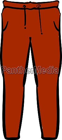red pants illustration vector on white