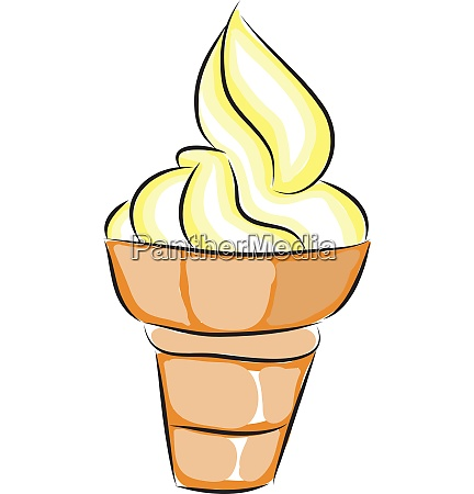 yellow and white ice cream in