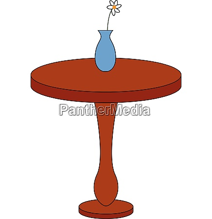 simple round brown table with a