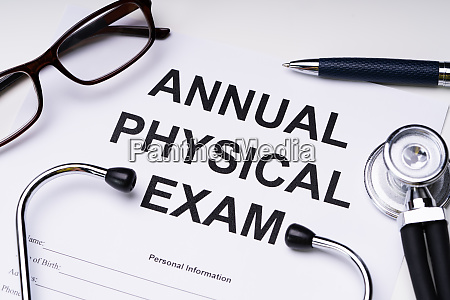 annual physical exam form