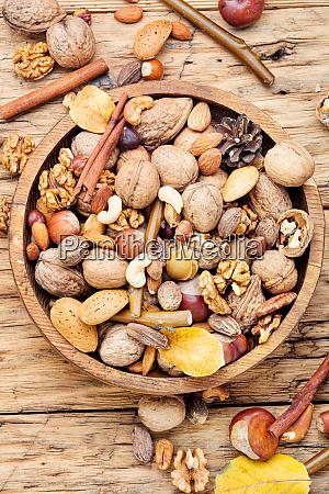 mix nuts close up