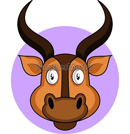 cartoon brown deer vector illustration on