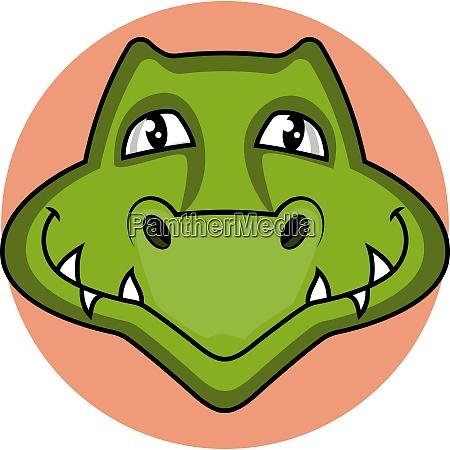 smiling cartoon green snake vector illustartion