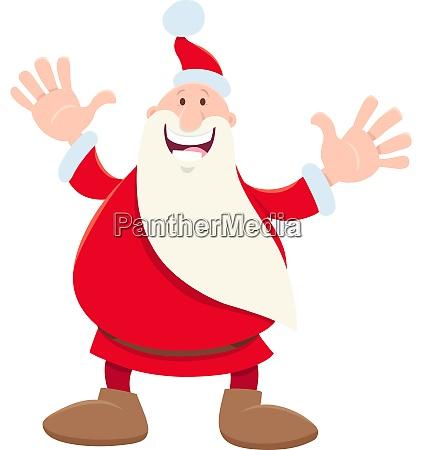 funny santa claus cartoon character on